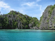 Island with entrace to Small Lagoon, El Nido