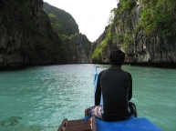 Guiding through Big Lagoon, El Nido