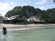 El Nido's beach in the morning