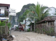 El Nido street undergoing repairs