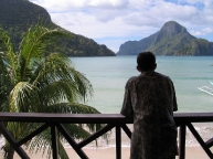 View of El Nido's beach from one of the resorts. 