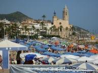 Sitges first beach