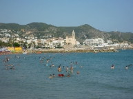 Sitges Mediterranean sea
