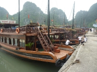 Boats await tourists
